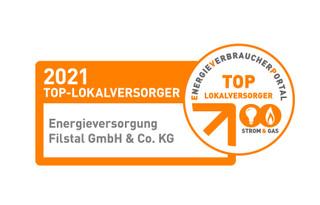 EVF ist auch 2021 TOP-Lokalversorger für Strom und Gas
